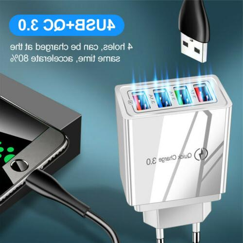 4 Charge Hub Wall Charger Adapter