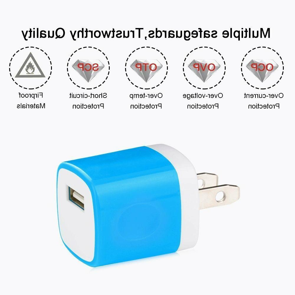 5-Pack Universal Home USB Amp Charger Adapter