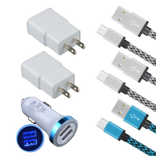 6 Car Wall Charger Type C Cable For ZTE Blade Z/X Max 3/XL S