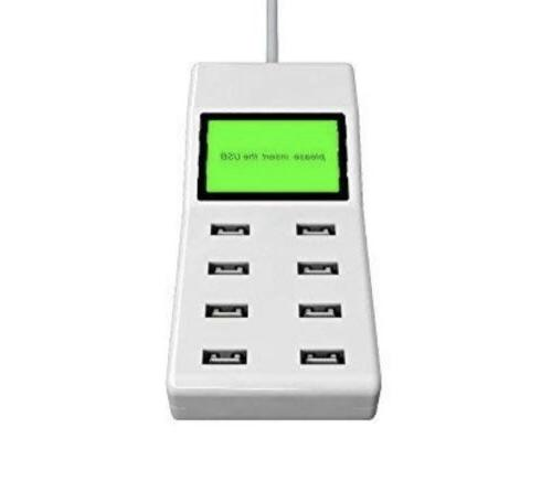 8 Desktop Wall LCD Display Charging Station