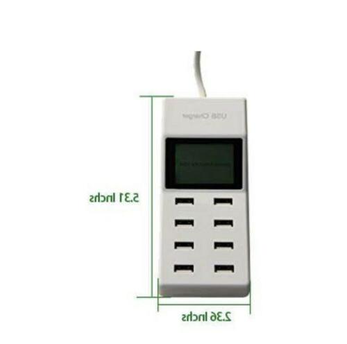 8 Desktop Charger LCD Charging Station