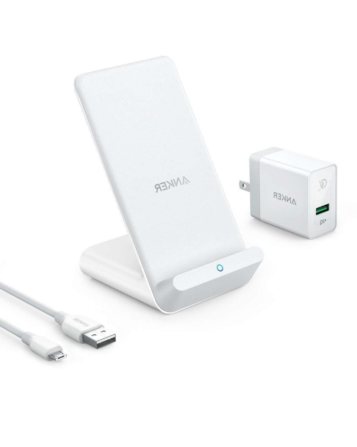 Anker PowerWave 7.5 Fast Wireless Charging Stand with Intern