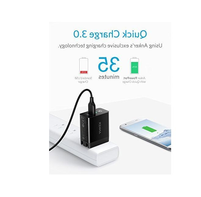 Anker Quick USB Wall Charger Adapter Galaxy S9 Note G6