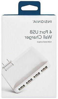 Insignia™ - 4-port Usb Wall Charger
