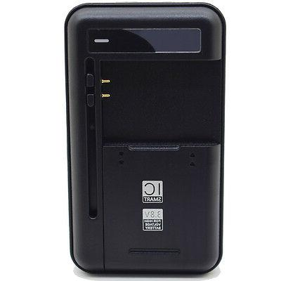 New External Battery AC USB Wall Charger for Samsung Galaxy