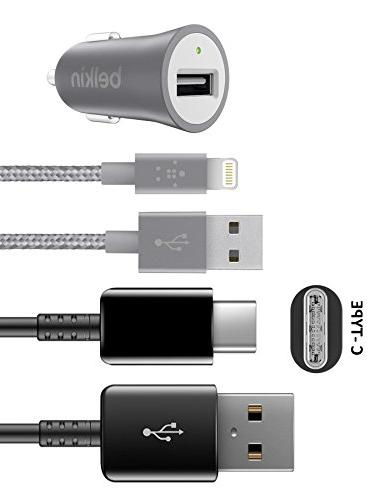Official Universal USB- C Lighting USB Home/Car - iOS & Android