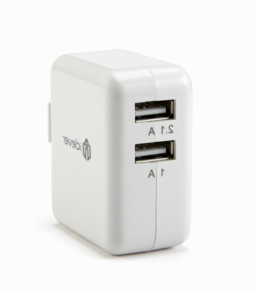 Original iClever Dual USB Wall Charger Travel Use Power Adap
