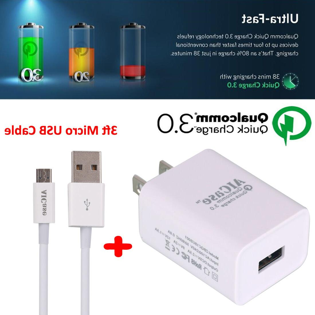 Qualcomm Certified Quick Charge 3.0 18W Fast USB Wall Charge