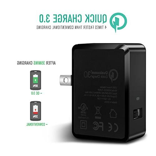 Quick Charge 3.0 USB Wall Charger Adapter for Galaxy S6,Note 9/8,Nexus G4