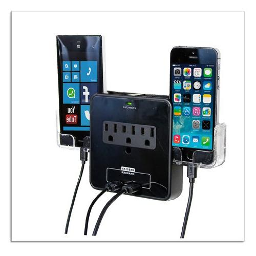 RND Power Solutions Wall Power Station includes 3 AC Plugs a