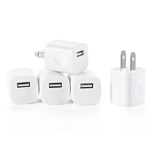 Spark Wireless 5pcs USB AC Universal Power Home Wall Travel