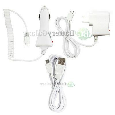 USB 6FT Cable+Car+Wall Charger for Phone Samsung Galaxy A5 A