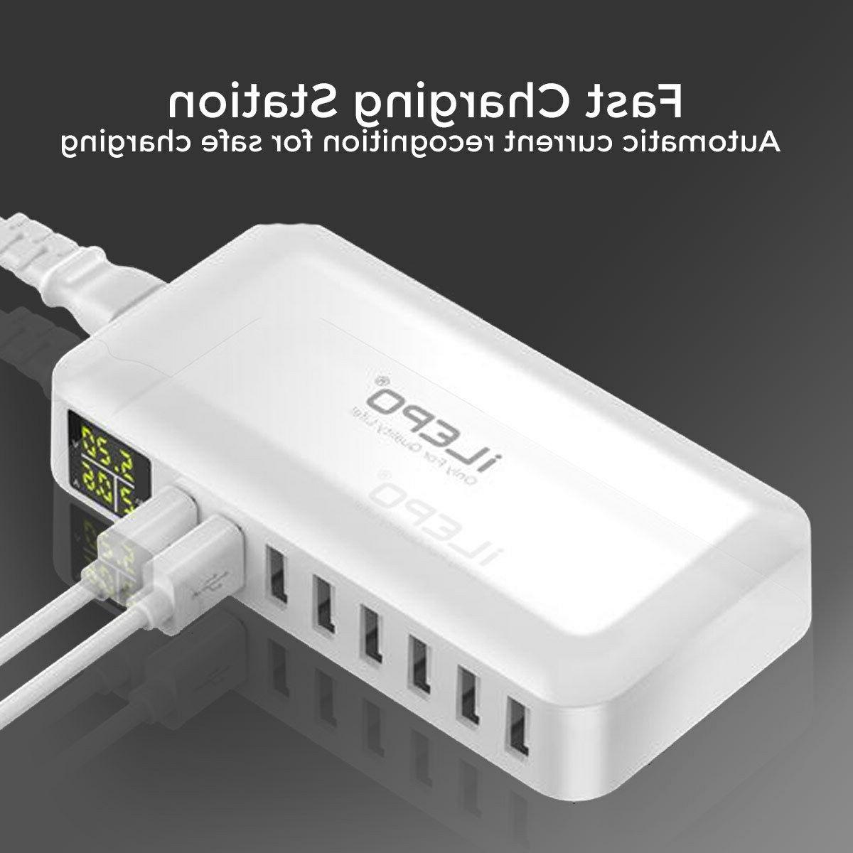 USB CHARGING STATION WALL CHARGER POWER BANK UNIVERSAL 8 MUL