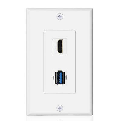 USB Outlet Wall Plate 3.0 Charger Receptacle Face Cover