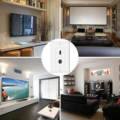 USB HDMI Outlet Wall Plate - 3.0 Charger & Receptacle Cover