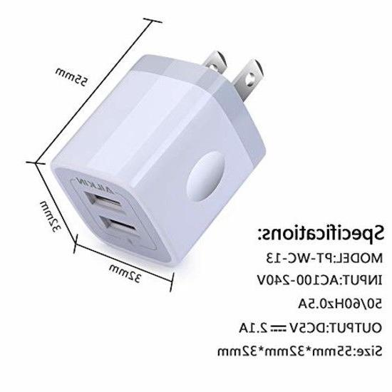 USB Charger Adapter, Ailkin Dual
