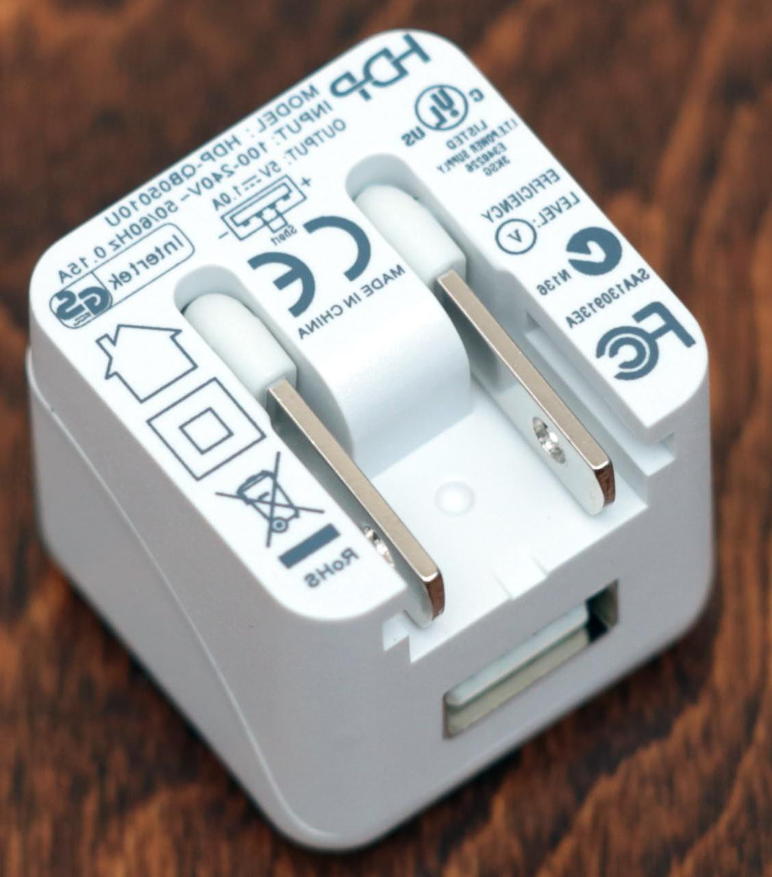 USB Wall Charger - Foldable - White 5V Power Supply - FCC Co