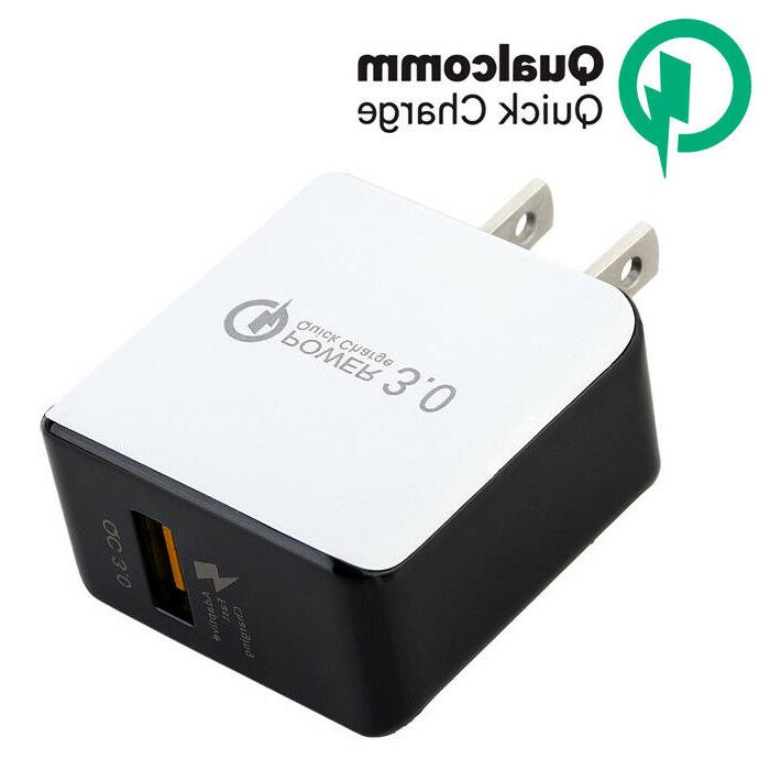 USB Wall Charger QualComm QC3.0 Quick Charger For iPhone X S