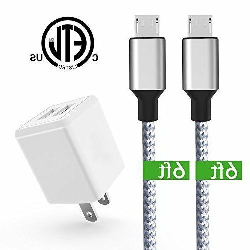 Wall Charger,KerrKim Dual USB Charger Adapter USB Wall Charg