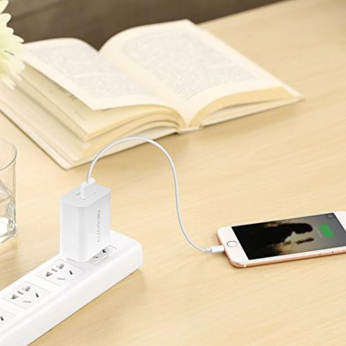 Wall Wall Charger, Mini Portable USB Wall Charger for 8 Android Edge, HTC, Moto, Kindle and -