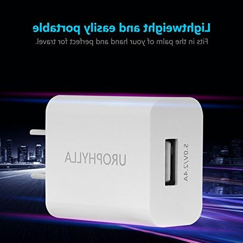 Wall Wall 12W Mini Portable Wall Charger iOS 8 7 6S/Plus Android Galaxy S8 7 Edge, HTC, Huawei, Moto, - White