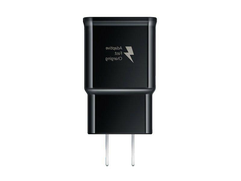 Black OEM Samsung Fast Wall Charger/ Micro USB Cable For Gal