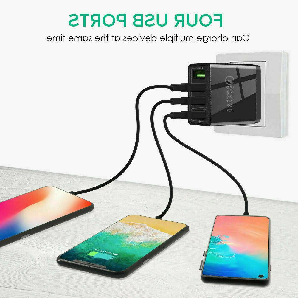 Black US Fast 3.0 Hub Charger Adapter