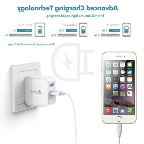 iClever BoostCube Dual USB Wall Charger SmartID