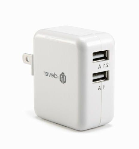 iClever 24W Dual Travel Wall Charger SmartID
