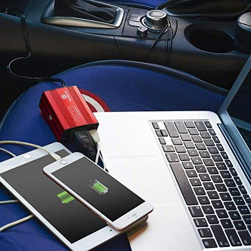 Buy What BW-150 150W Car 12V to Outlet USB Car Charger