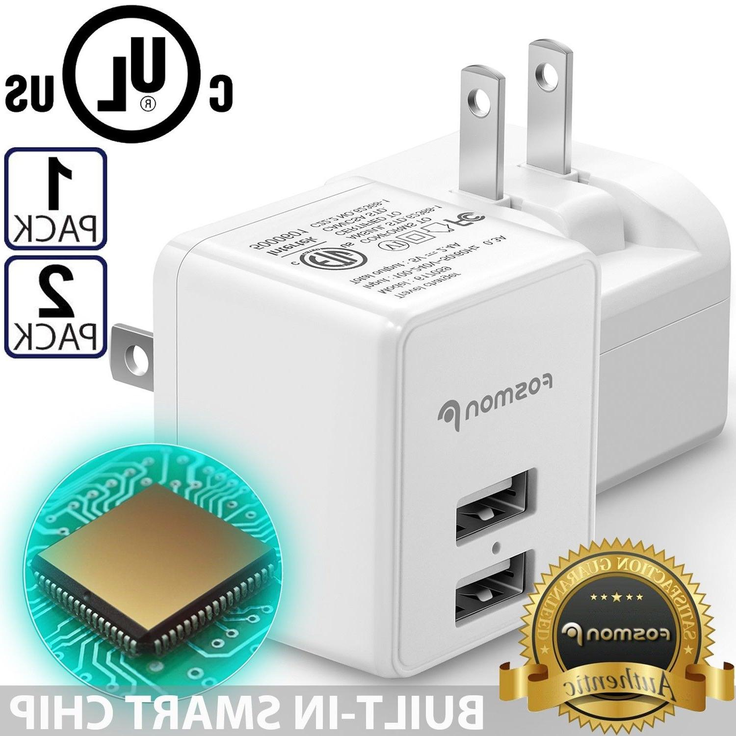 dual 2 port usb fast wall charger