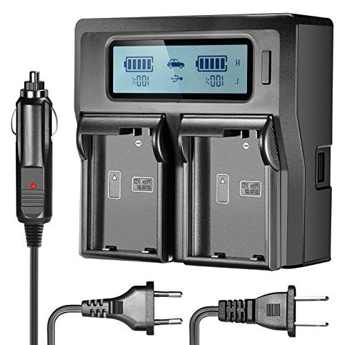 Neewer Dual LCD Battery Charger for Nikon EN-EL15 Batteries