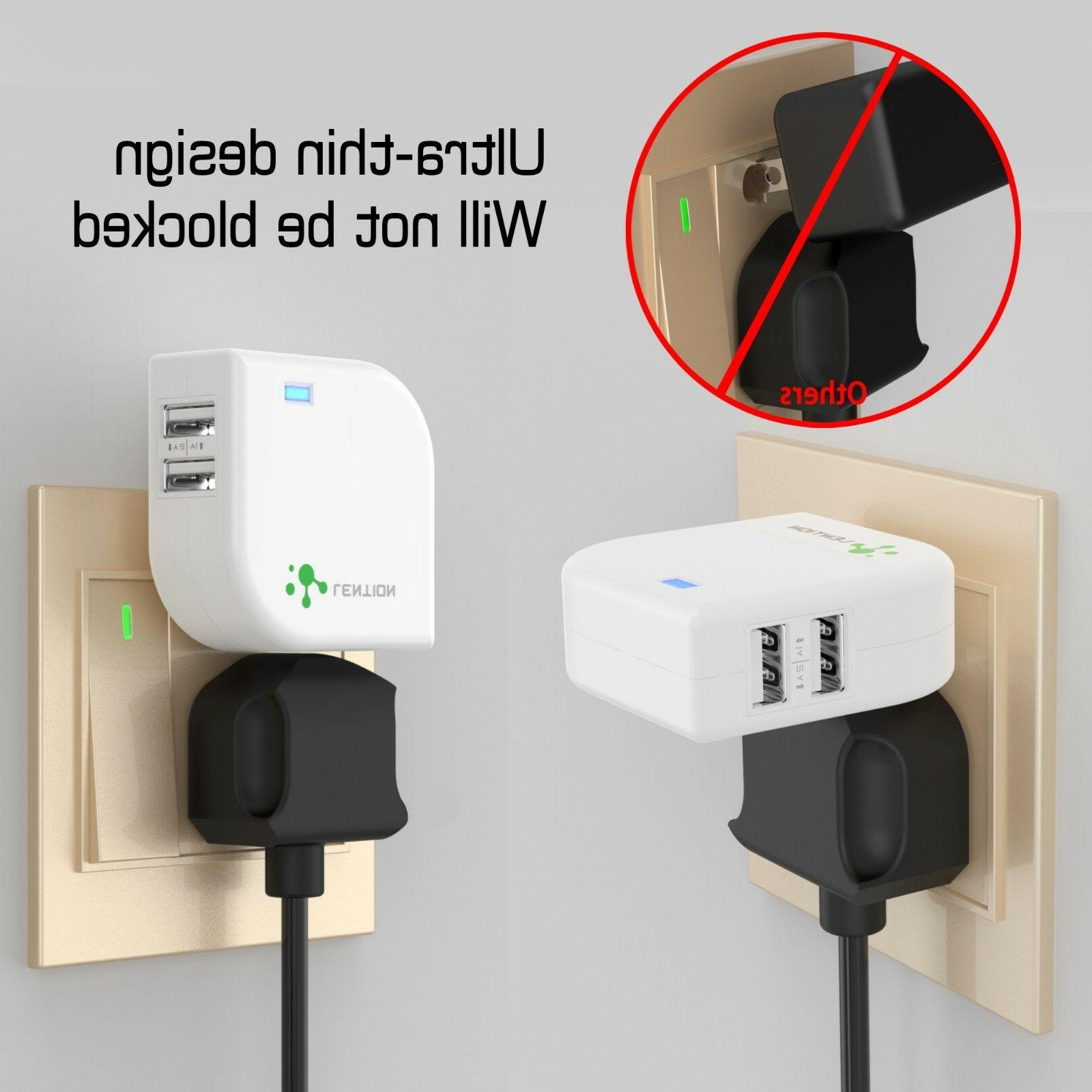 Dual Port USB Wall Charger 5V Travel Power Adapter iPhone Samsung