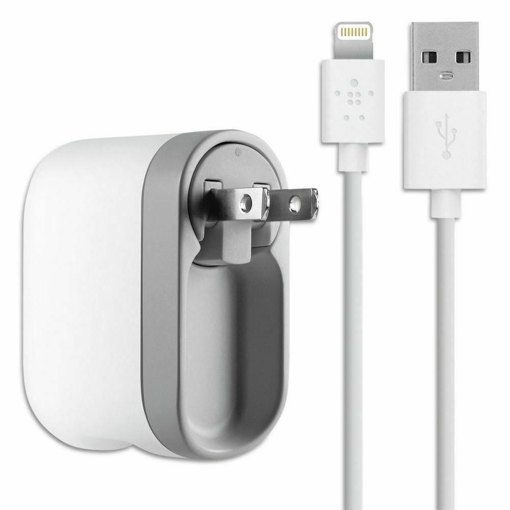 Dual Swivel Charger with Lightning to USB Cable