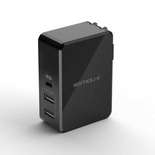 dual usb c wall charger quick charge