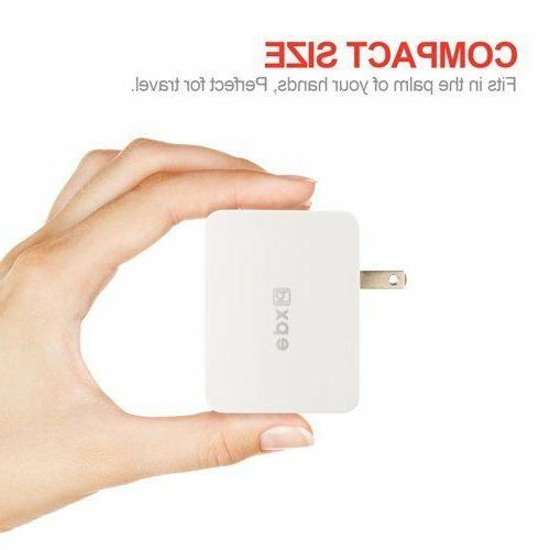 2.3A/1A Dual Port Wall Charger for iPhone Samsung Galaxy