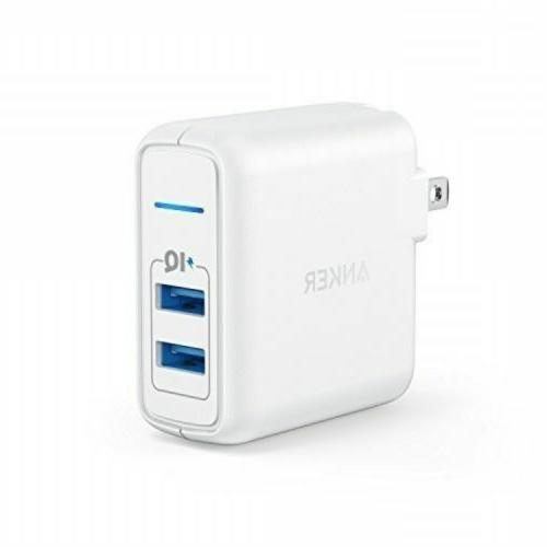 elite usb charger dual port 24w wall