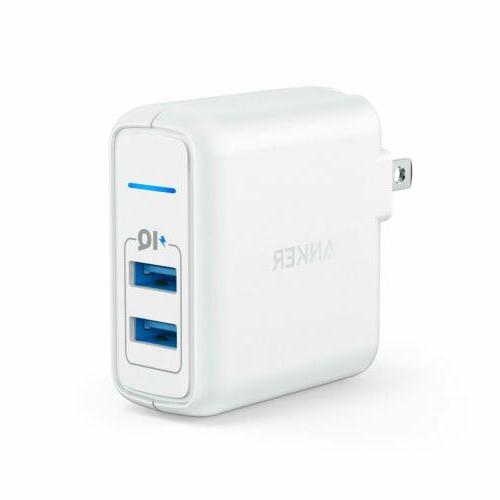 elite usb dual port 24w wall charger