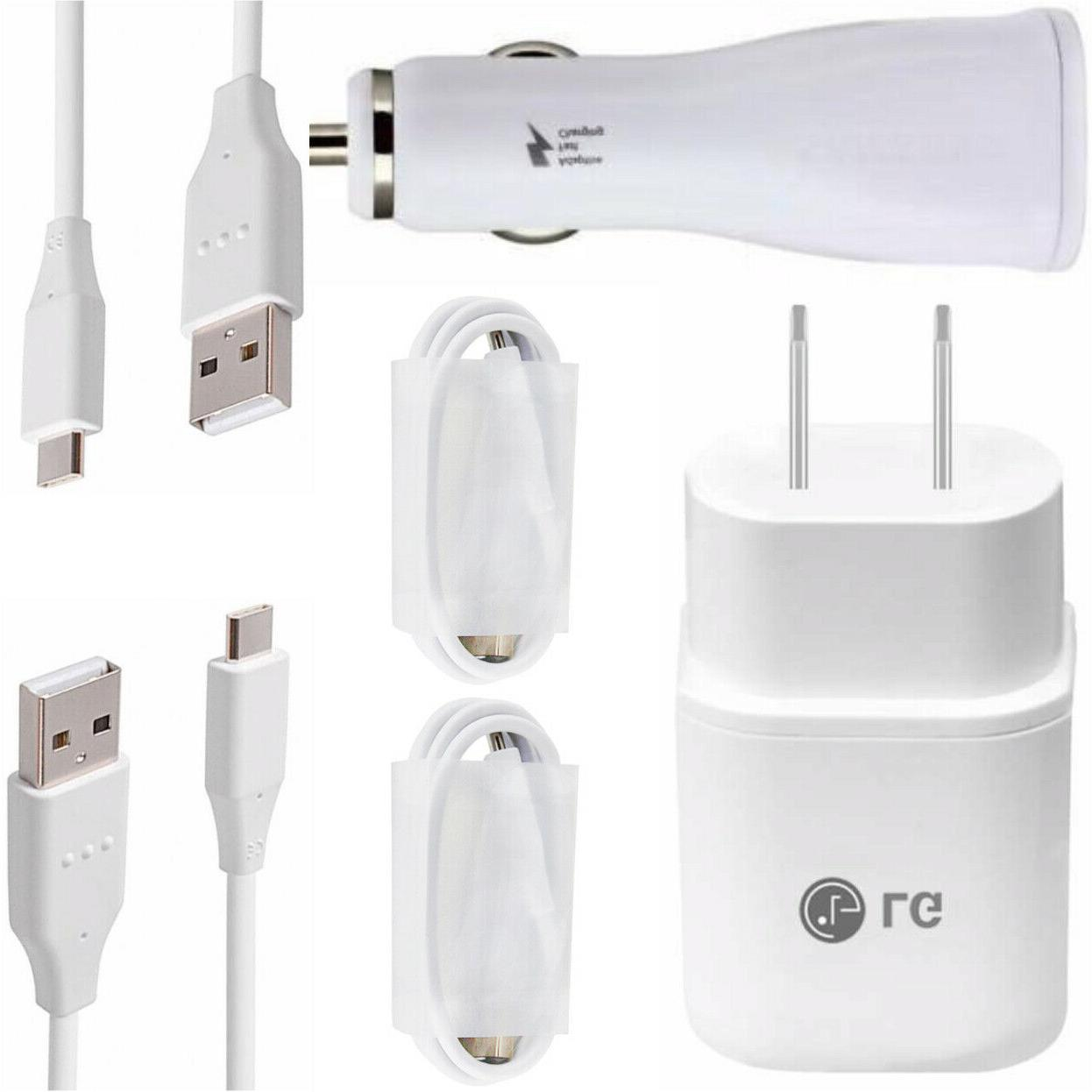 fast charging wall and car charger bundle