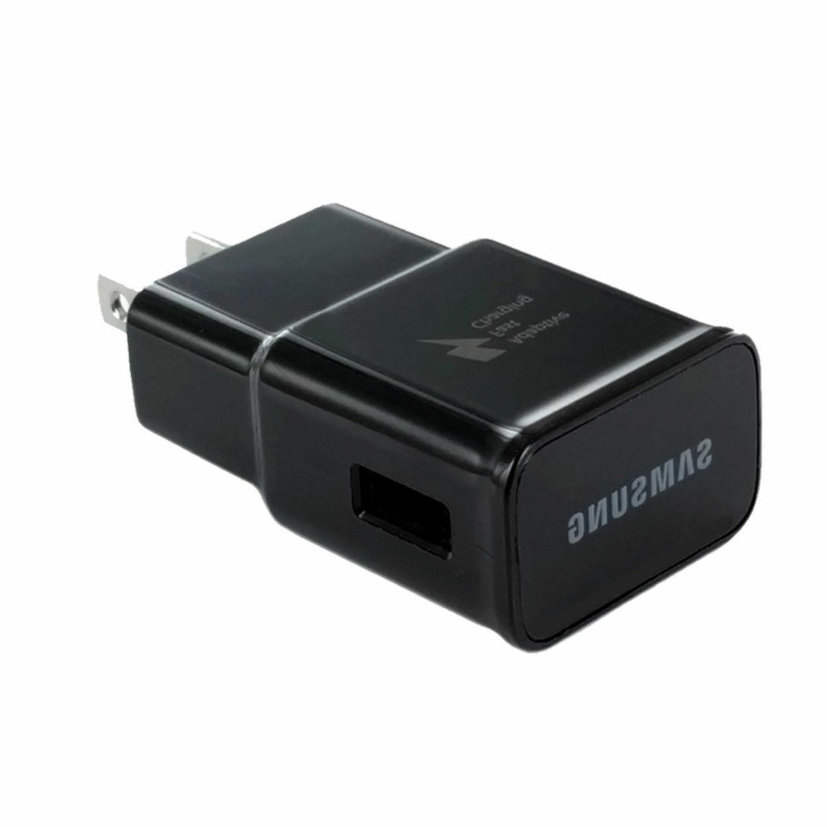 Fast Rapid BLACK Charger 5 Ft For Samsung Galaxy S7 Note4