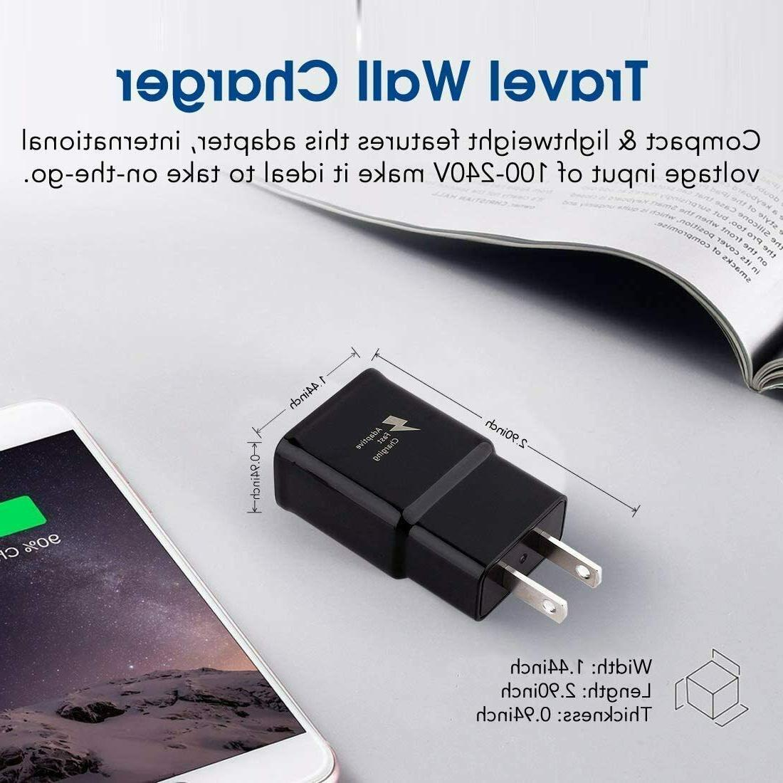 Fast Wall Type USB-C Cable Cord For Galaxy S10 S9 S8 Note8