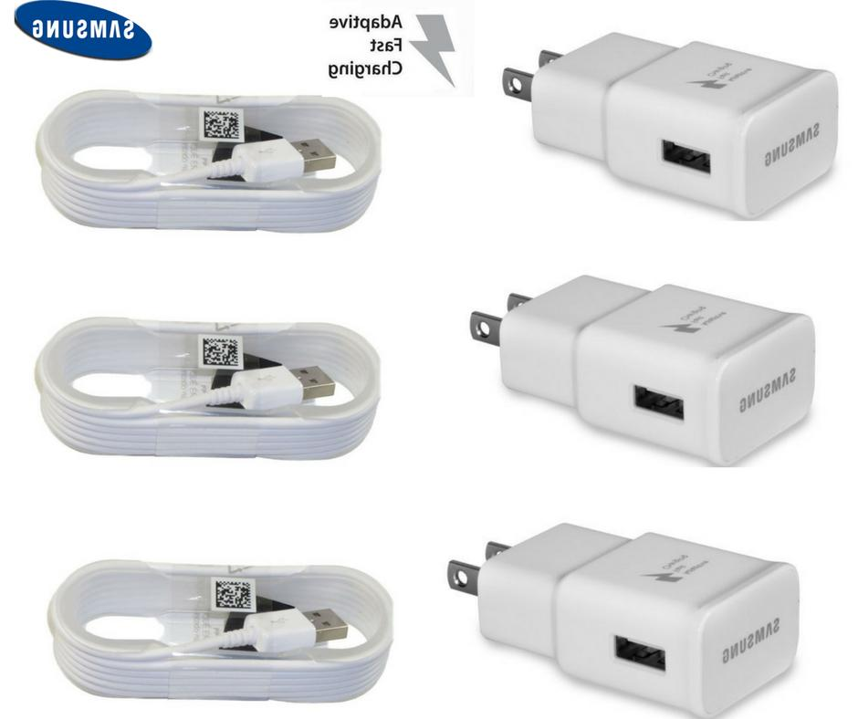 OEM Samsung Galaxy S6 S7 Note 4 5 Fast Charging USB Wall Cha