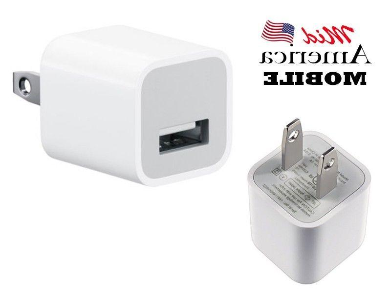 iPhone Wall Charger USB Power Adapter AC Plug - US Standard