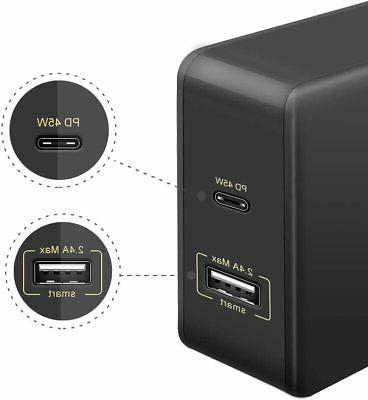 45W Wall Fast Charging USB Adapter Laptop