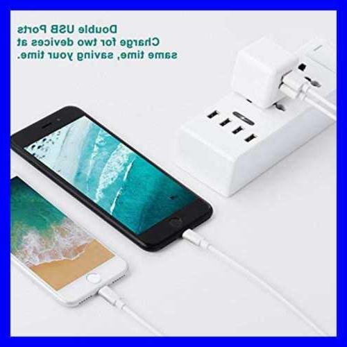 Iphone Port Power Adapter 2 Pack 3FT Cord Com