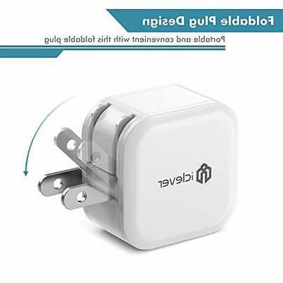 iClever Charger,12W 2-Pack Travel Charger Cube Adapter