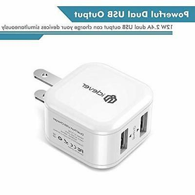 Charger,12W 2-Pack Dual Travel Charger