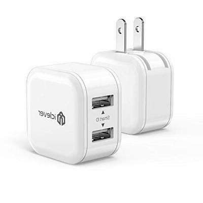 mini usb wall charger 12w 2 pack