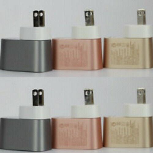 mixit metallic usb home wall charger adapter