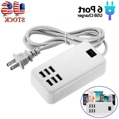multi port usb charger adapter